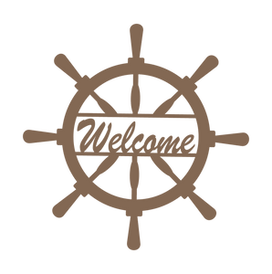 Home Decor - Captain Wheel Welcome Sign