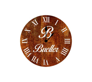 Home Decor - Family Name/Initial Clock