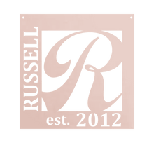 Load image into Gallery viewer, Home Decor - Square Monogram