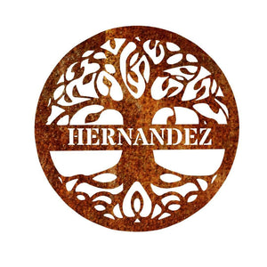 Home Decor - Tree Of Life Monogram