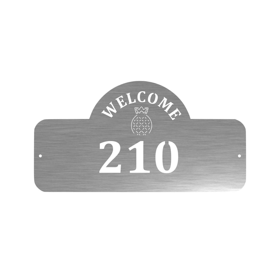Home Decor - Welcome Pineapple Address Sign
