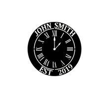 Load image into Gallery viewer, Personalized-10 - Monogram Clock