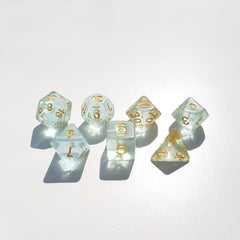 RPG Dice Set Water Sprite - Die Hard Dice | Sunny Pair'O'Dice