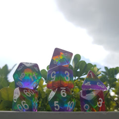 RPG Dice Set Prismatic Rainbow - Die Hard Dice | Sunny Pair'O'Dice