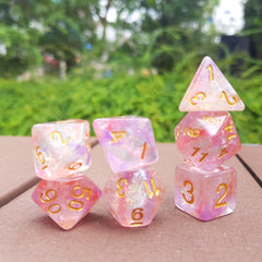 RPG Dice Set - Luminous Ruby (Die Hard Dice) | Sunny Pair'O'Dice