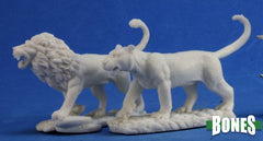 Reaper Miniatures - Lions(2) (77341) | Sunny Pair'O'Dice