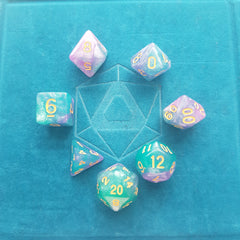 RPG Dice Set - Byzantium (Die Hard Dice) | Sunny Pair'O'Dice