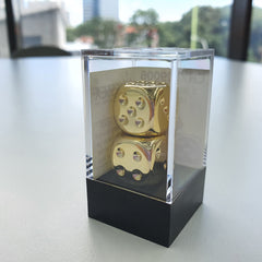 Metal-Plated 6-Sided Dice (Chessex) | Sunny Pair'O'Dice