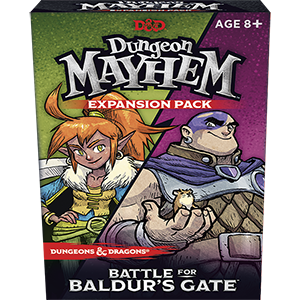 D&D Dungeon Mayhem Expansion: Battle for Baldur's Gate | Sunny Pair'O'Dice