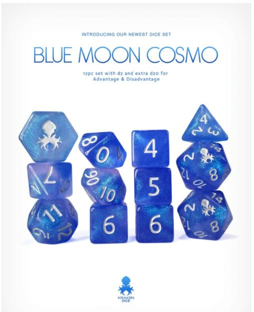 Blue Moon Cosmo 12pc - Kraken Dice | Sunny Pair'O'Dice
