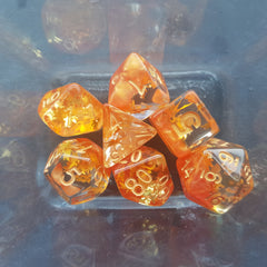 RPG Dice Set Four Seasons Fall Gold - Kraken Dice | Sunny Pair'O'Dice