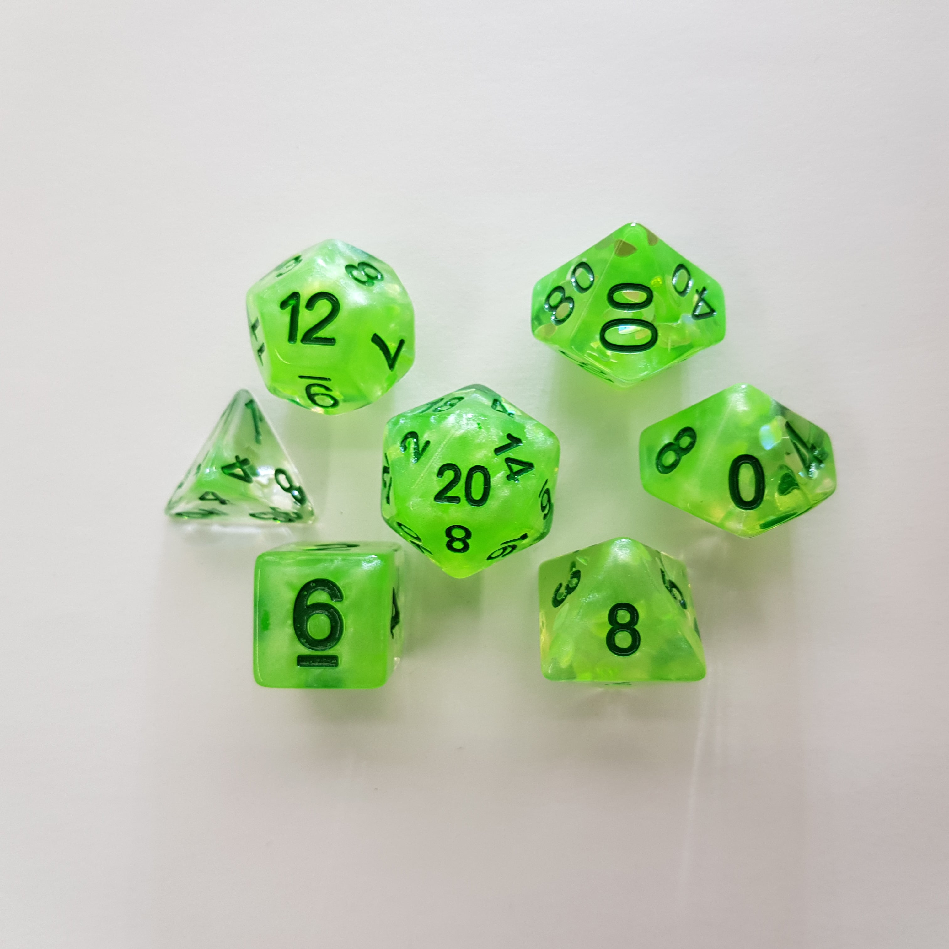 RPG Dice Set Four Seasons Spring Green - Kraken Dice | Sunny Pair'O'Dice