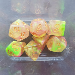 RPG Dice Set Lush Sunrise - Kraken Dice | Sunny Pair'O'Dice
