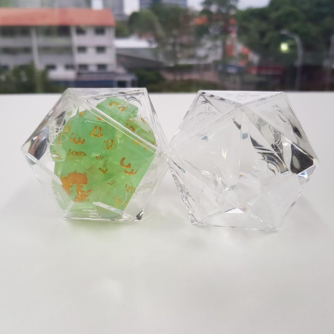 Kraken Logo D20 Dice Display | Sunny Pair'O'Dice