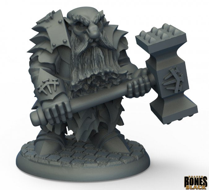 Reaper Miniatures - Dark Dwarf Pounder (44010) (Limited Edition) | Sunny Pair'O'Dice