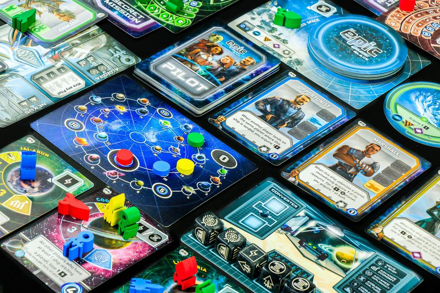 Tiny Epic Galaxies (Beyond the Black Expansion) - Gamelyn Games | Sunny Pair'O'Dice