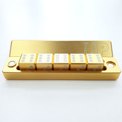D6 - 5 Dice Set Gravity Dice Gold (Ultra Pro) | Sunny Pair'O'Dice
