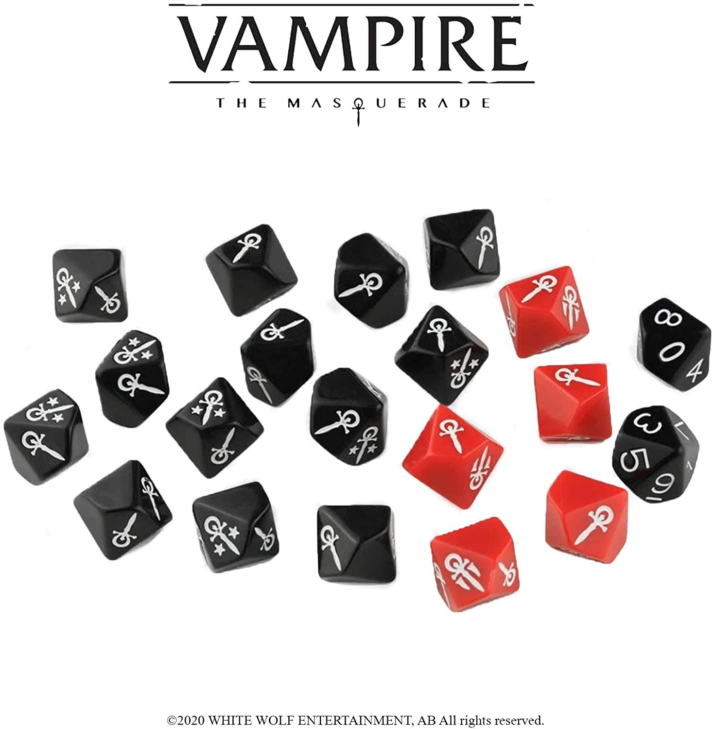 Vampire The Masquerade: Dice Set RPG Accessory | Sunny Pair'O'Dice