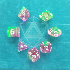 RPG Dice Set - Violet Evergreen (Die Hard Dice) | Sunny Pair'O'Dice