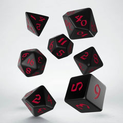 Q-Workshop Classic Runic Black & Red Dice Set | Sunny Pair'O'Dice