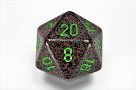 Chessex Speckled 34mm Earth Polyhedral D20 (XS2022) | Sunny Pair'O'Dice