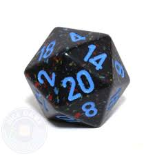 Chessex Speckled 34mm Cobalt Polyhedral D20 (XS2053) | Sunny Pair'O'Dice
