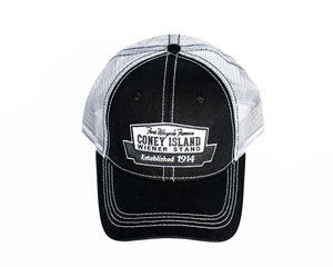 "Coney Island Baseball Cap, Black ""Trucker"""