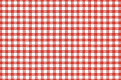 Red Checker Table Runner