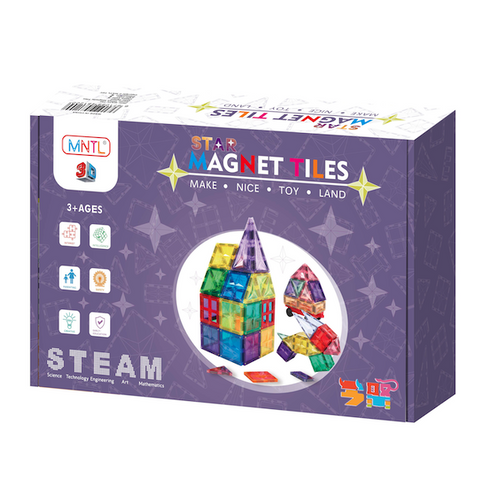 Star Magnet Tiles 42 dele