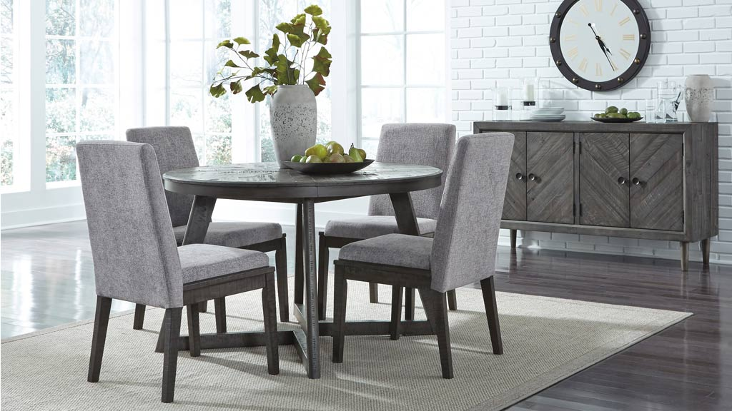 Picture of: Besteneer Round Dining Table Ashley Furniture Homestore New Zealand
