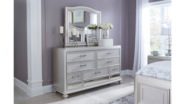 Coralayne 7 drawer dresser with mirror
