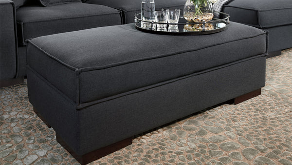 Glamour footstool with storage