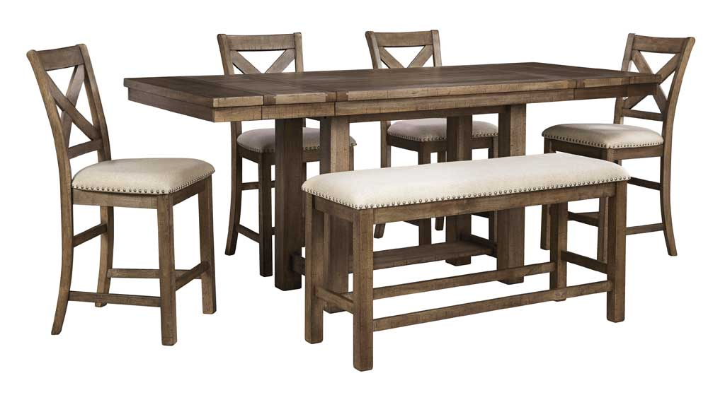 Moriville 6 piece dining suite