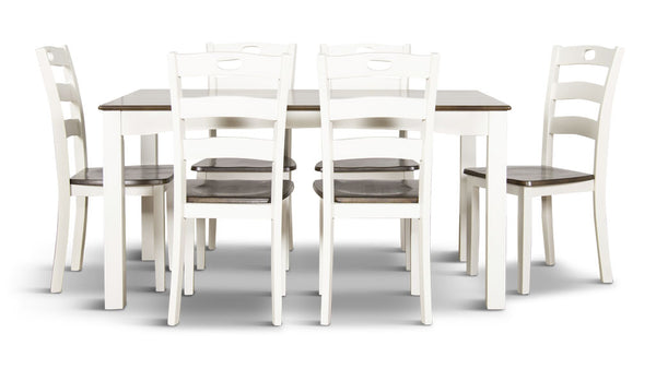 Woodanville 7 piece dining suite