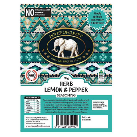 Herb Lemon and Pepper - House of Cumin