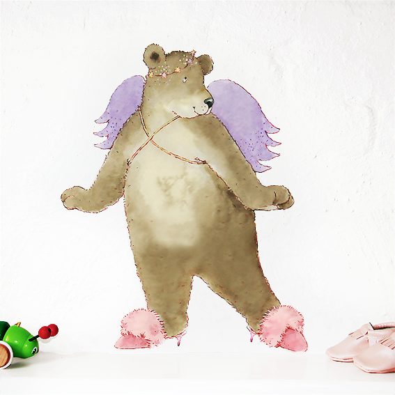 Twirling Betty Bear Wall Sticker