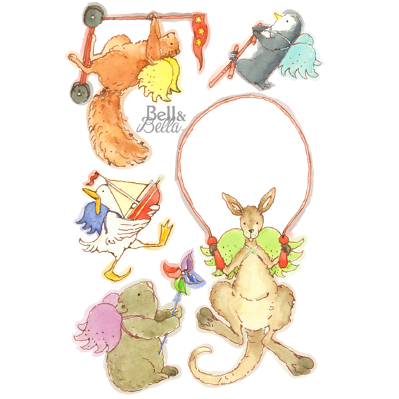 Playtime with Sammy Squirrel and Friends Wall Stickers