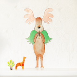Musical Max Moose Wall Sticker