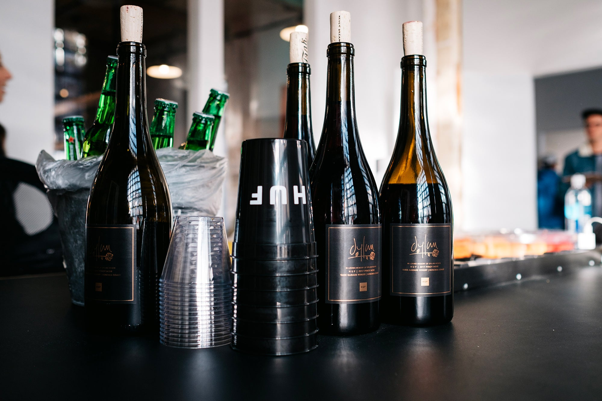 Dylan Rieder Wine Bottles