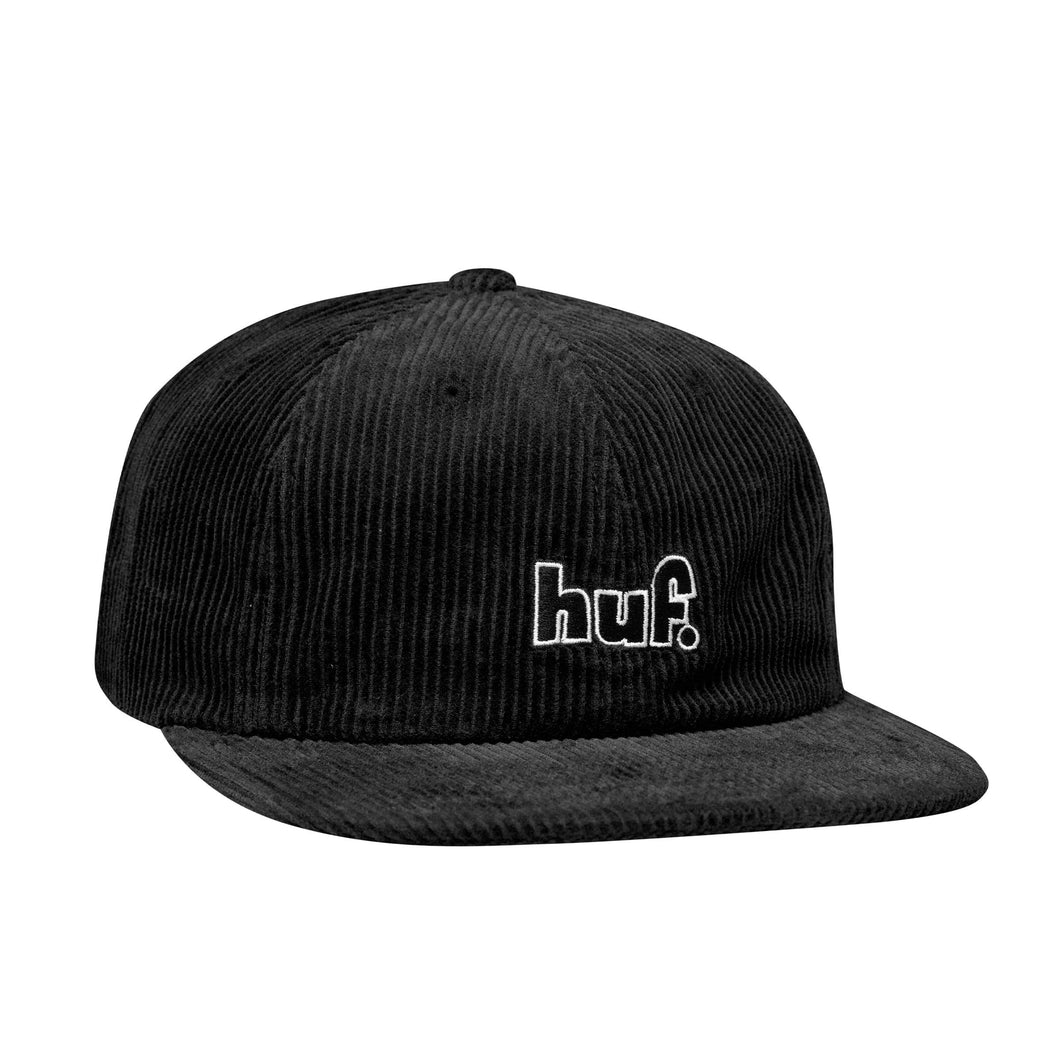 Huf 1993 Logo 6 Panel Hat Black