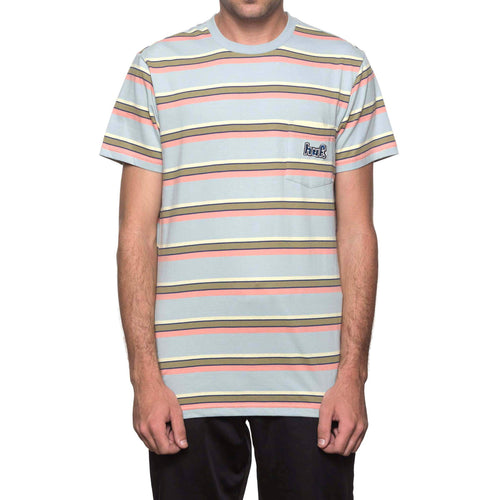 HUF 1993 Stripe Short Sleeve Knit Ballad Blue
