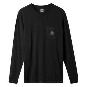 HUF Peak Patch Long Sleeve Pocket T-Shirt Black