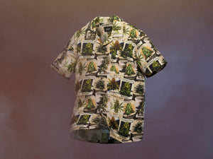 GREEN THUMB SHORT SLEEVE WOVEN TOP