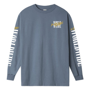 HUF Action Hero Long Sleeve T-Shirt Blue Mirage
