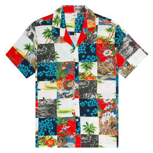 HUF Aloha Patchwork Resort Shirt Multi