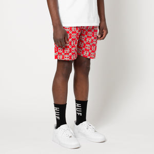 HUF Atelier Easy Short Mens Shorts Red