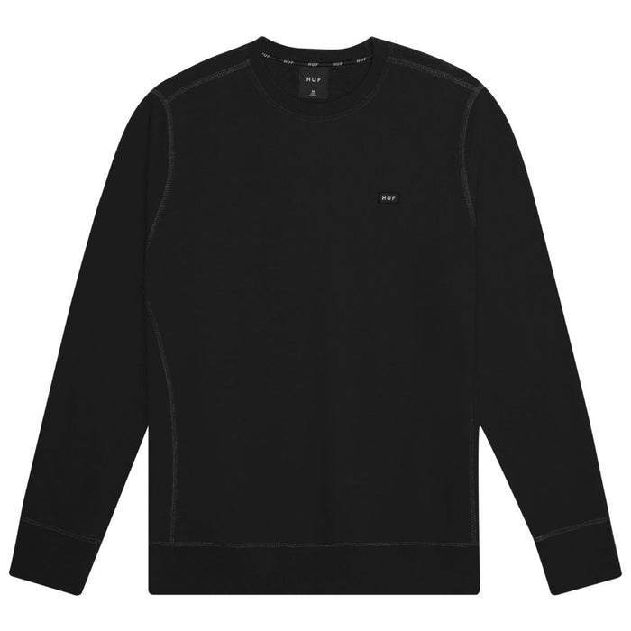 HUF Bar Logo Crew Mens Sweater Black