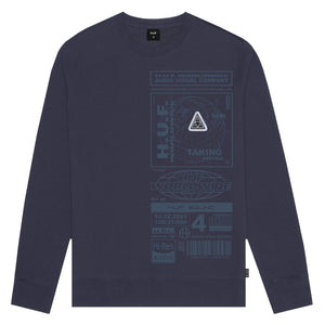 Huf Bit-6 Crewneck French Navy