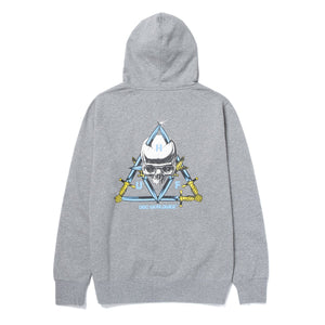 HUF Blvd Triple Triangle Pullover Hoodie Grey Heather