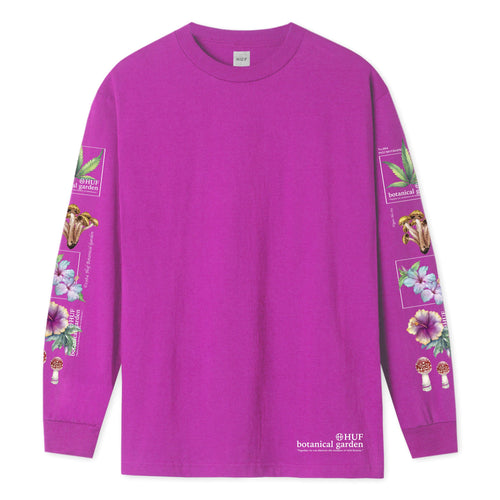 HUF Botanical Garden Long Sleeve T-Shirt Pink